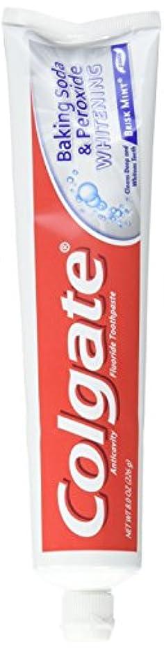 機械的住人壮大なColgate 重曹と過酸化物ホワイトニングの歯磨き粉の泡、好調ミント、8オンス