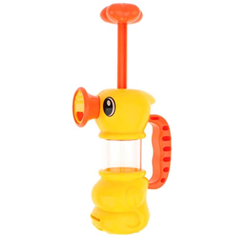 perfk ABS製 イエロー 水のおもちゃ アヒル形 スプレー ウォーターポンプ おもちゃ お風呂用おもちゃ
