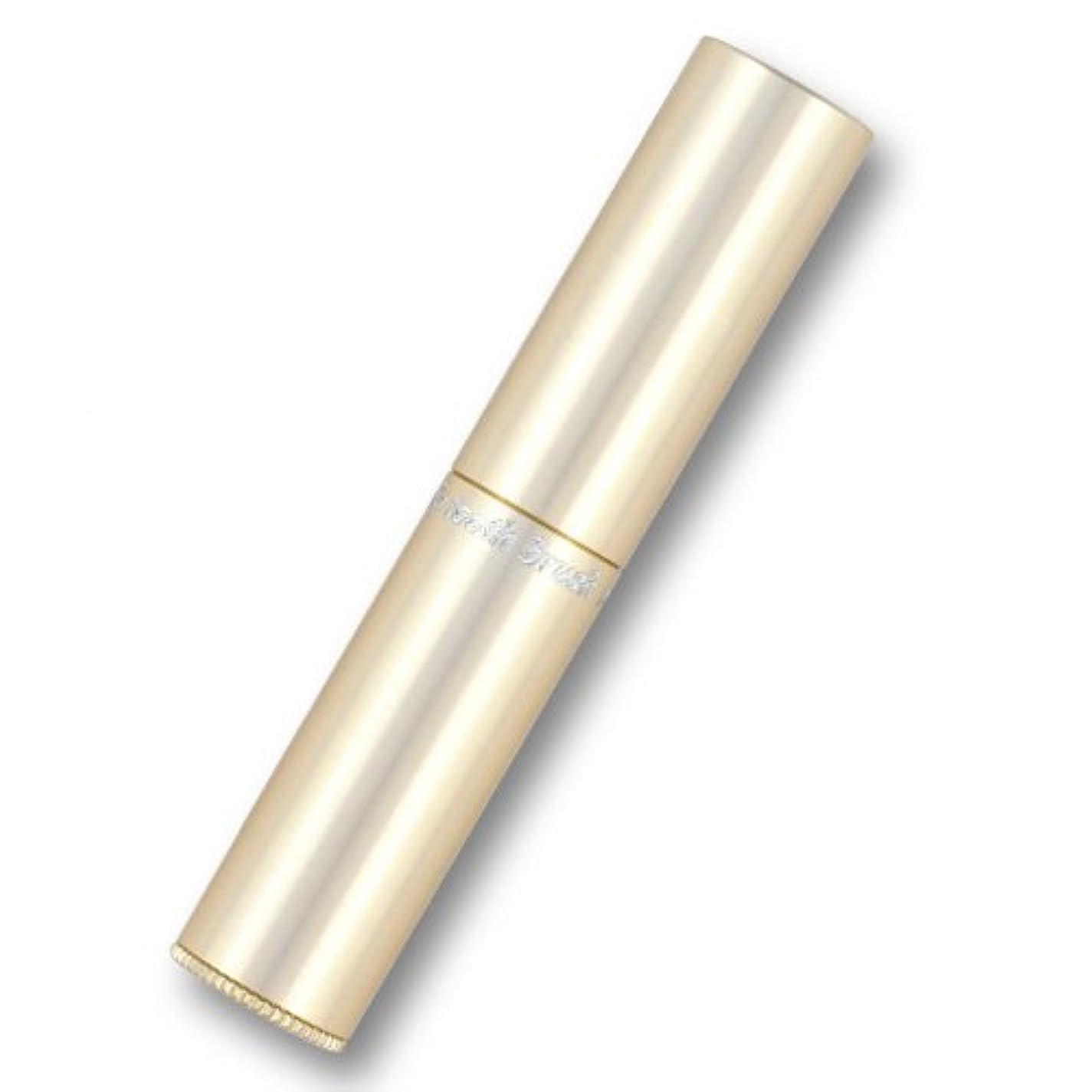 ええフラップユダヤ人携帯歯ブラシ?タベタラmigaCO(シャンパンゴールド)