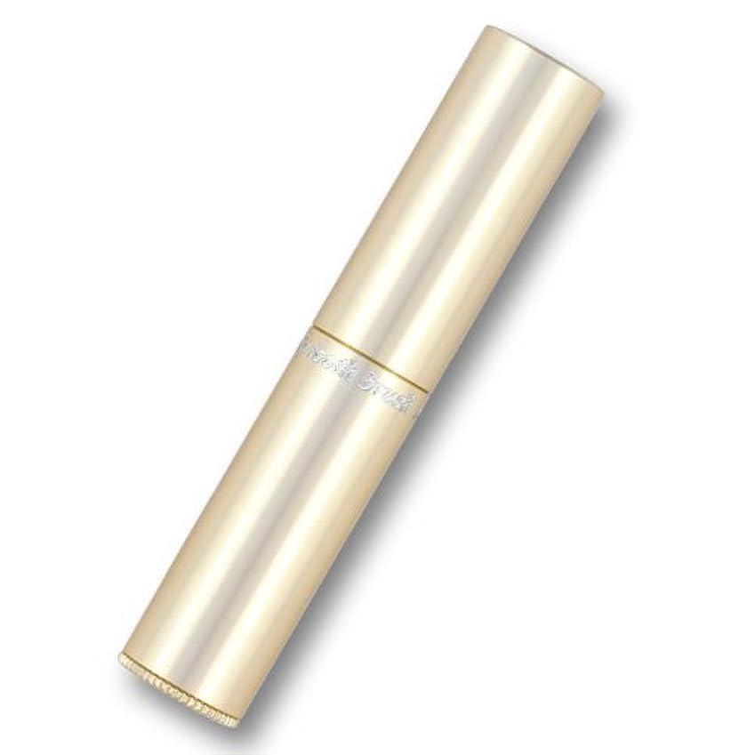 ヒゲ低い塩辛い携帯歯ブラシ?タベタラmigaCO(シャンパンゴールド)