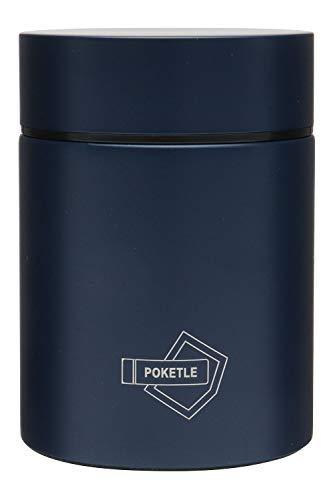 POKETLE ポケトル スープボトル スープジャー カップスープ ステンレス製マグボトル ミニボトル 水筒 保温 保冷 160mL (ネイビー)