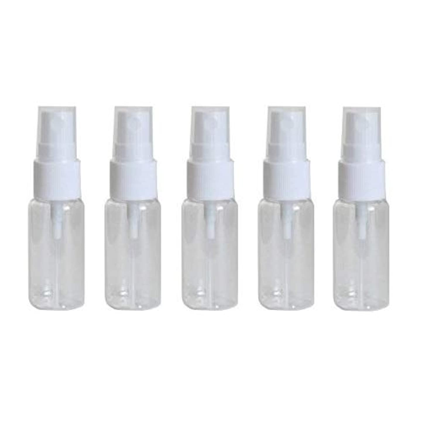 ライトニング延期する放射性happy fountain スプレーボトル 15ml 5本セット プラスチック容器 アトマイザー
