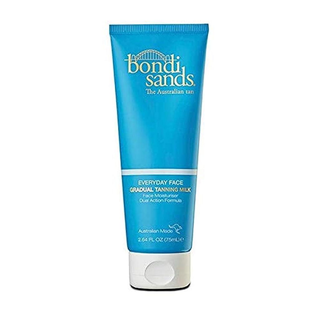 悲惨としてドキドキ[Bondi Sands ] 日常ボンダイ砂 - 顔のための段階的な日焼けミルク - 75ミリリットル - Bondi Sands Everyday - Gradual Tanning Milk for Face - 75ml...