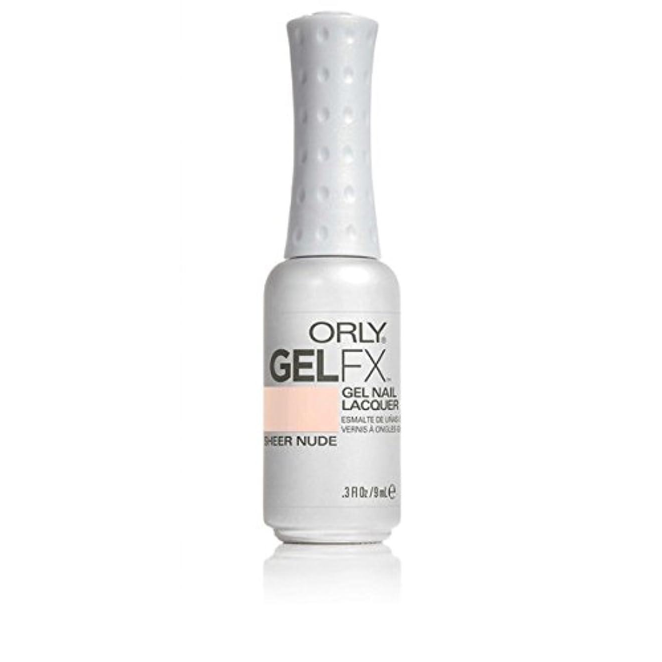 輸血海嶺消毒剤ORLY(オーリー)ジェルFXジェルネイルラッカー 9ml シアーヌード#32479