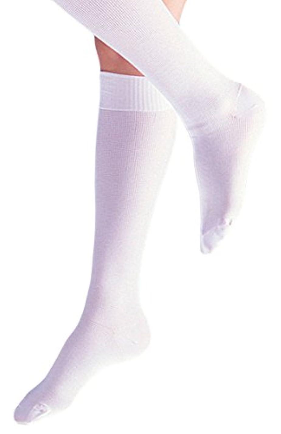 ランタンふつうこんにちはソフラヘルサー L 白 036210 着圧靴下 竹虎メディカル