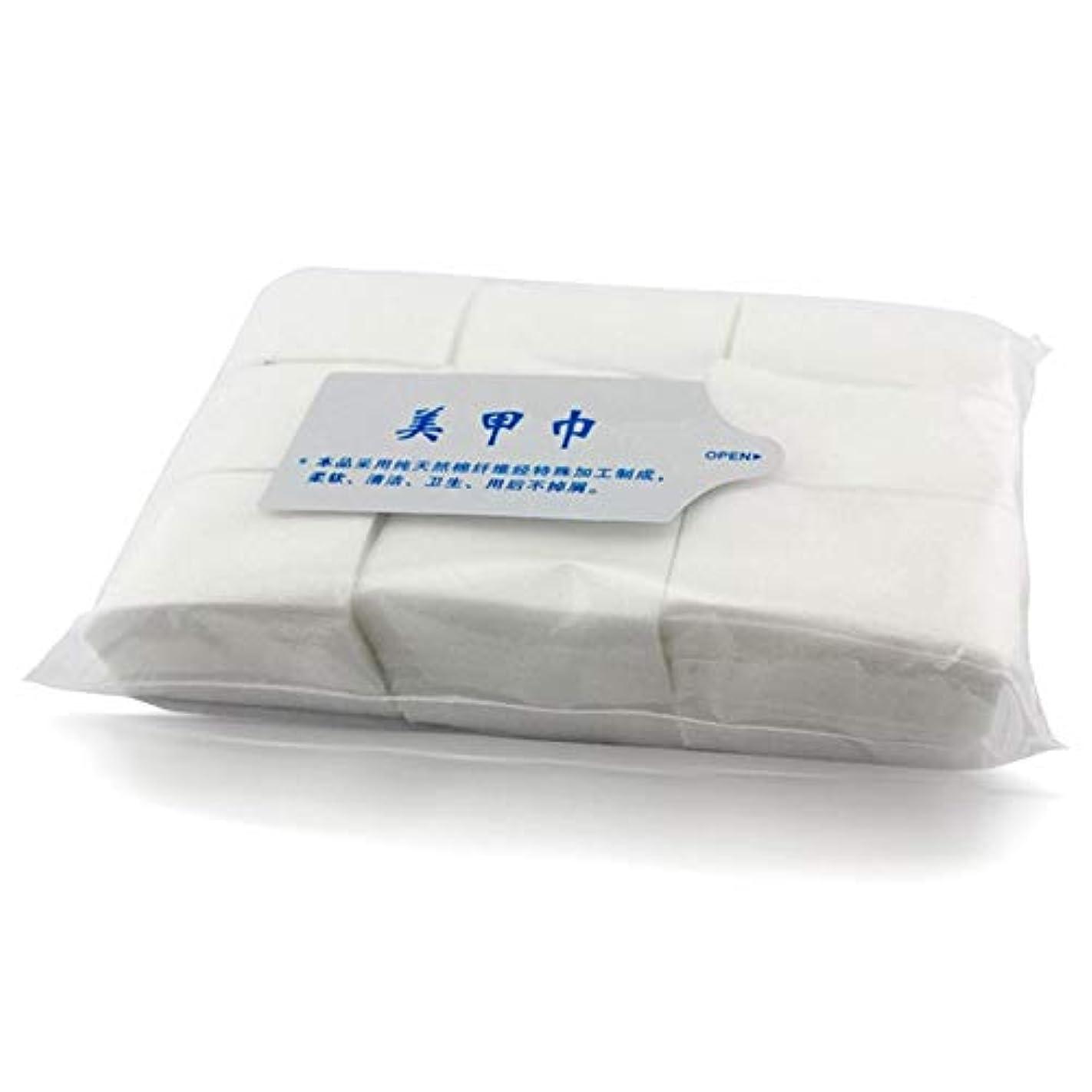 ブルーベル補体投資ネイルワイプ 天然素材不織布 900枚入り コットン ワイプ/ジェル ネイル マニュキア オフ (2pack)