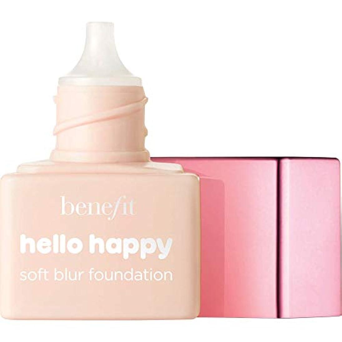 時折ヒゲ笑[Benefit ] 利益こんにちは幸せなソフトブラー基礎Spf15の6ミリリットル - ミニ1 - フェアクール - Benefit Hello Happy Soft Blur Foundation SPF15 6ml...