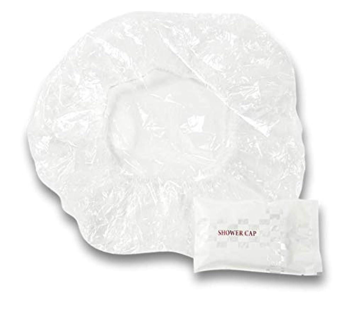透明に拍車褐色ラティス シャワーキャップ 業務用 個別包装100入り 使い捨てキャップ