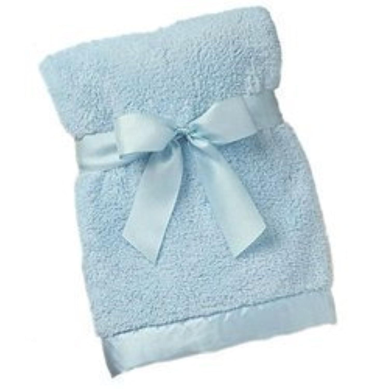 Bearington Baby Posh Dots Series:Large Cozy Chenille Crib Blanket (Blue) by Bearington [並行輸入品]