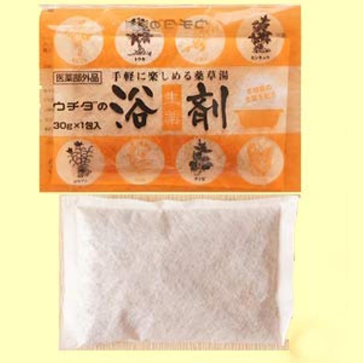 レンドヒステリック義務付けられたウチダの浴剤 30g×3包