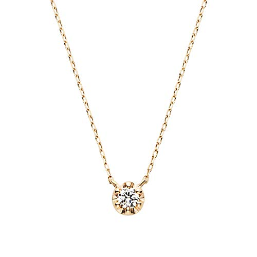 [ヴァンドーム青山] VENDOME AOYAMA K10 YG ル トロー ダイヤモンド ネックレス AJVN149040DI