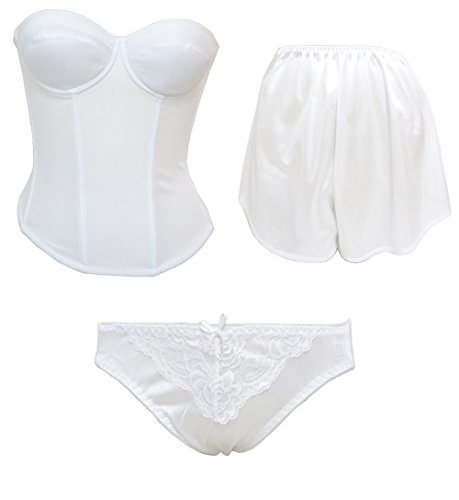 "Bridal inner bustier and tap pants & shorts [3-piece set] ""wedding"" ""wedding dress"""