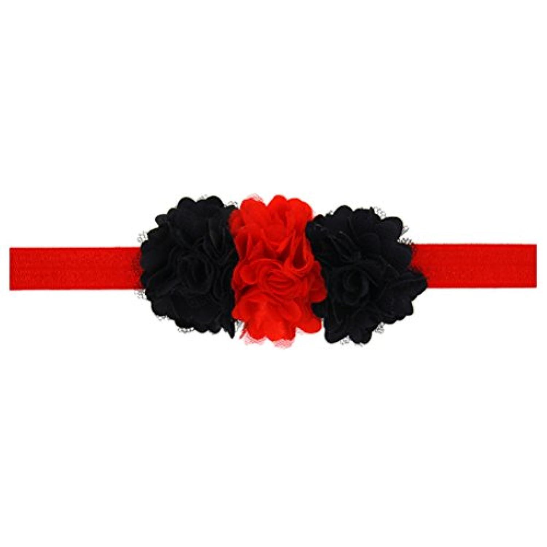 Zhhlaixing ベビー小物 Kids Baby Girls Lace Silk Flowers Headband Hairband Flower Hair Accessories for Christmas