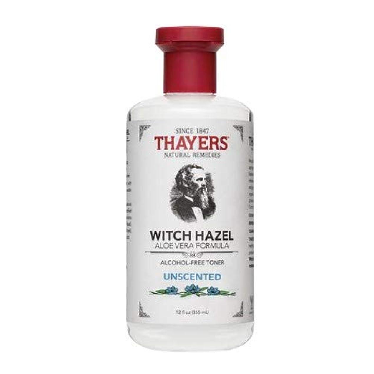 気がついて段落死すべきThayersアルコールフリー無香料ウィッチヘーゼルトナー( 12oz。)