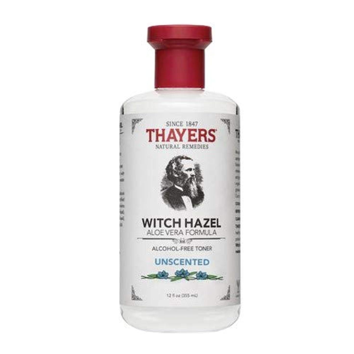 クッションエーカー回転させるThayersアルコールフリー無香料ウィッチヘーゼルトナー( 12oz。)