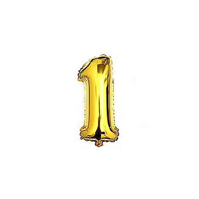 Liroyal ちょうど良い大きさ 数字バルーン ゴールド 誕生日 ウェディング パーティーに (1)