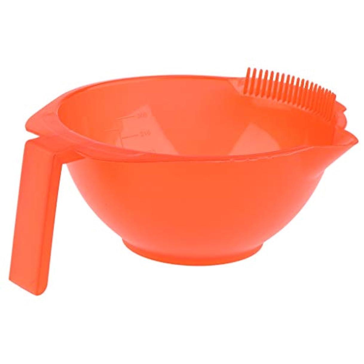サーカス意味する割り当てるヘアダイボウル 髪の色ボール 理髪サロン ヘアダイミキシングボウル 5色選べ - 赤