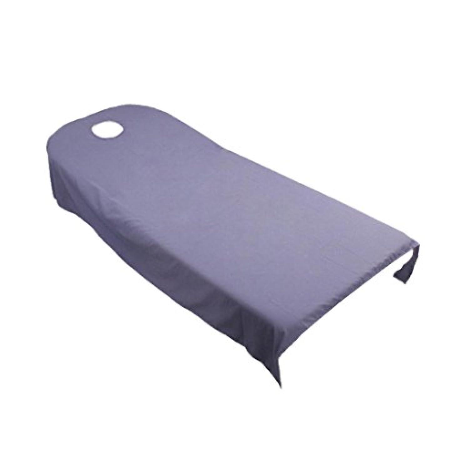 奴隷未使用苦しみタオル地 ベッドカバー ソファーカバー シート 面部の位置 ホール付き 美容/マッサージ/SPA 用 9色選べる - 紫の