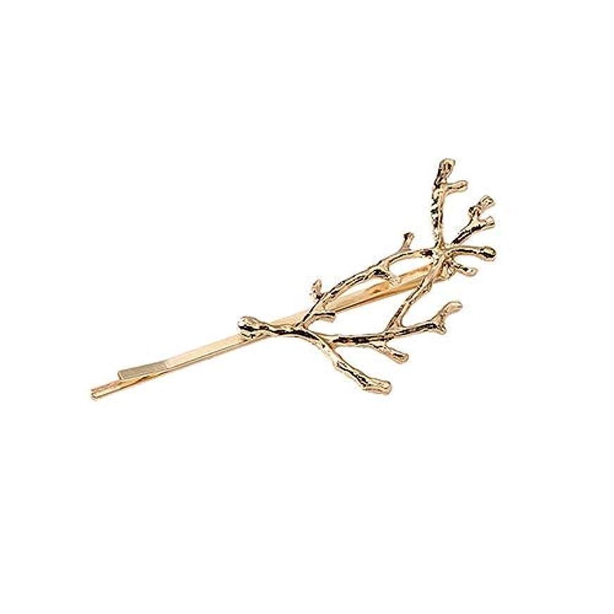寝てる割れ目アリフラワーヘアピンFlowerHairpin YHM 3 PCSビンテージツリーブランチヘアクリップガールズ合金ヘアピン、長さ:7.8 cm(ゴールド) (色 : Gold)