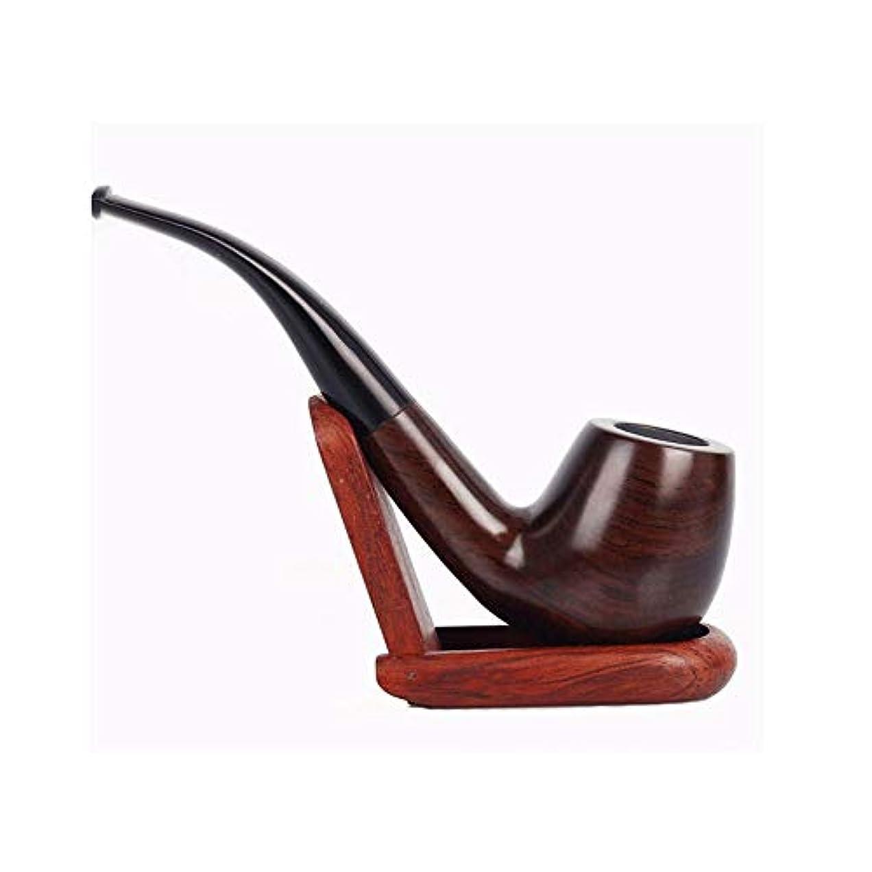 アクセシブル挨拶する偽善者SHENGSHIHUIZHONG 黒と黒檀のパイプ、手彫りの喫煙、湾曲タバコパイプ、フィルターパイプ9 mm、黒檀 最高の贈り物