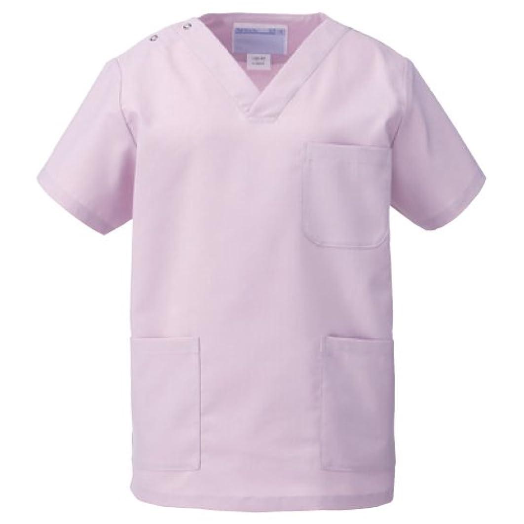 議題愛されし者以内に医療ユニフォーム 手術衣  スクラブ(男女兼用) KAZEN ローズ サイズ:S  133-97