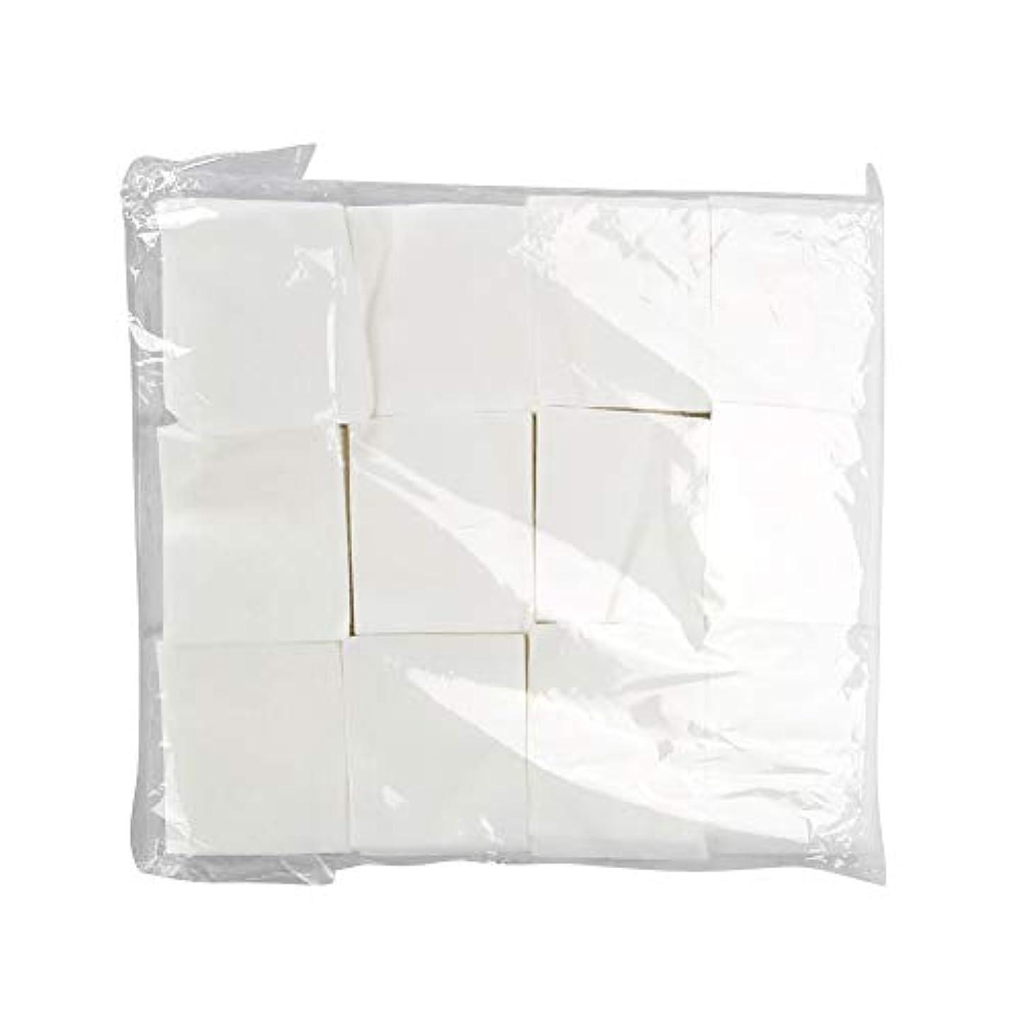 リファイン独特の長々と使い捨てネイルポリッシュリムーバーコットンパッド、化粧フェイシャルコットンパッド メイクアップクリーナーコットンワイプ、ネイルワイプフェイシャルアイメイクアップワイプ(1200Pcs)