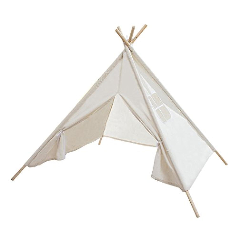 キッズテント テント おもちゃ テントハウス 子供テント 秘密基地 組み立て簡単 知育玩具 おままごと 遊び小屋 (ウッドの長さ:136cm)