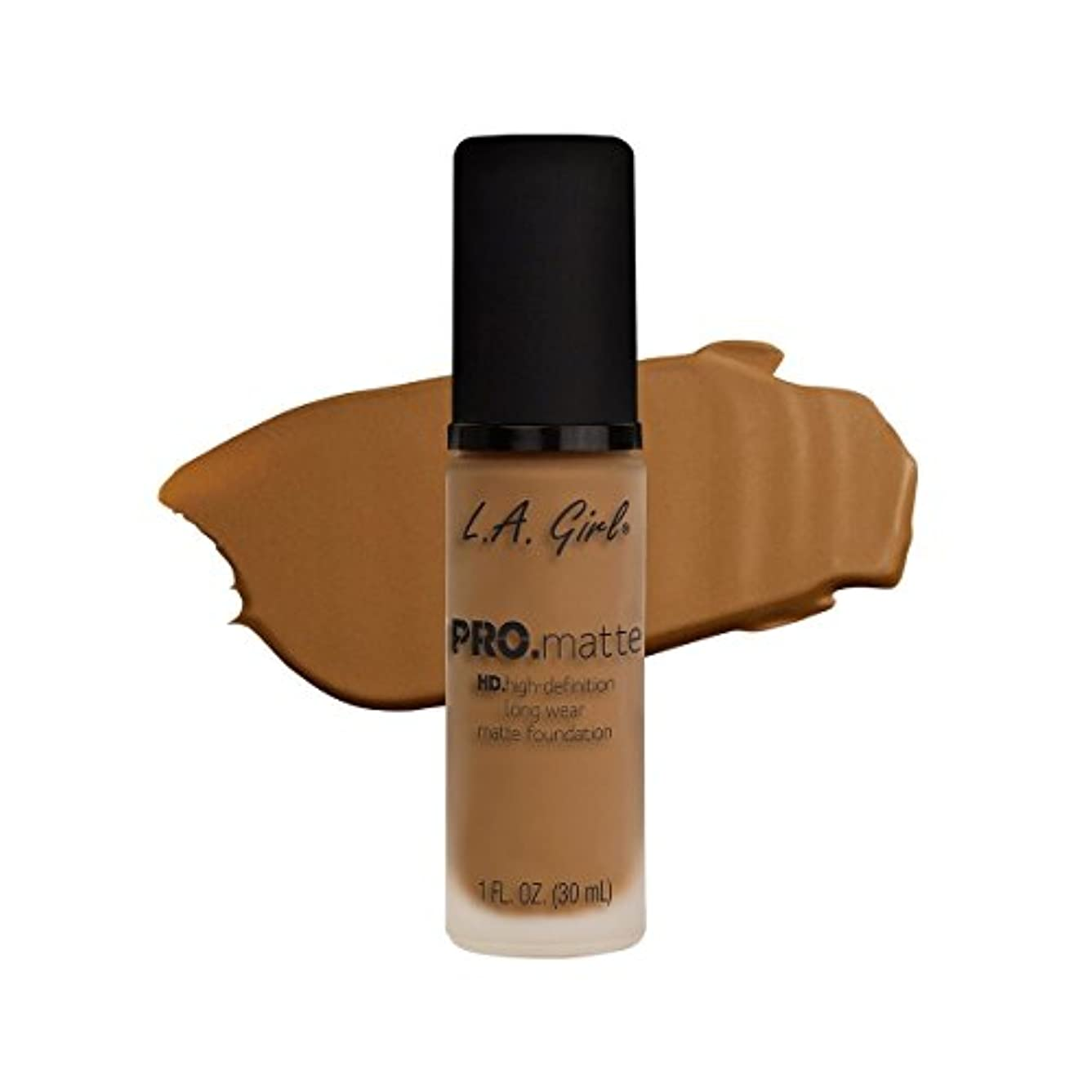 伝導みなす砦(3 Pack) L.A. GIRL Pro Matte Foundation - Caramel (並行輸入品)