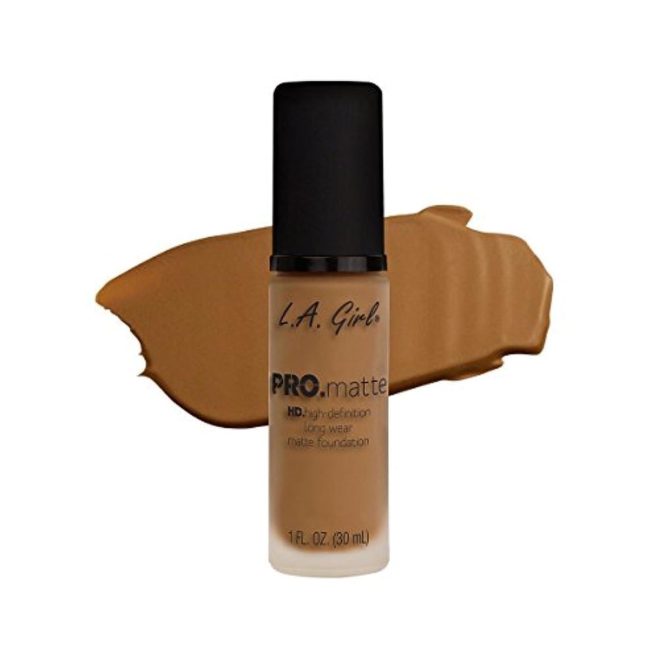 置くためにパック緑自分自身(3 Pack) L.A. GIRL Pro Matte Foundation - Caramel (並行輸入品)