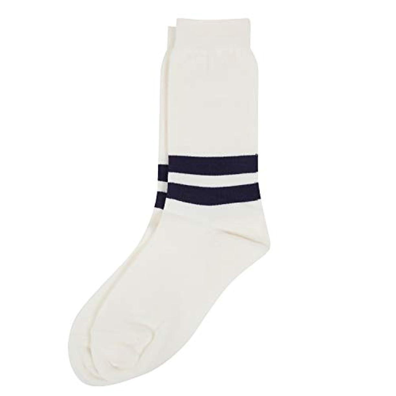 ストッキング恥ずかしいマニュアルDeol(デオル) ラインソックス 男性用 メンズ [足のニオイ対策] 長期間持続 日本製 無地 靴下 白 25cm-27cm