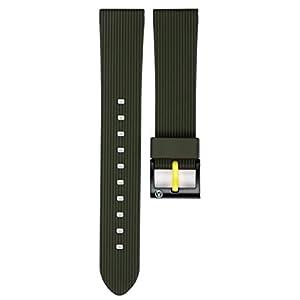 [キューアンドキュー スマイルソーラー]Q&Q SmileSolar 時計ベルト 20mm ウレタン グリーン 59-PB1895J