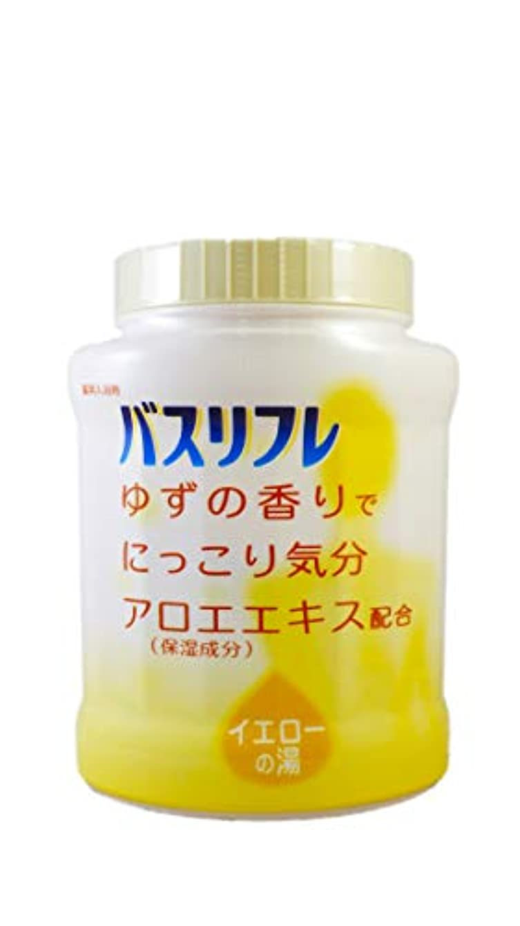 魅惑するリテラシー軽量バスリフレ 薬用入浴剤 イエローの湯 ゆずの香りでにっこり気分 天然保湿成分配合 医薬部外品 680g
