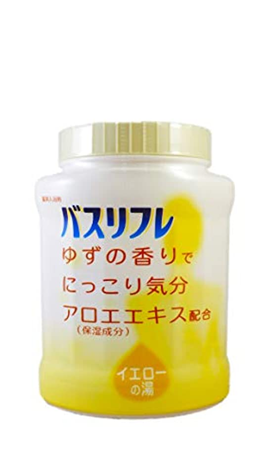 呼吸ナチュラディスパッチバスリフレ 薬用入浴剤 イエローの湯 ゆずの香りでにっこり気分 天然保湿成分配合 医薬部外品 680g