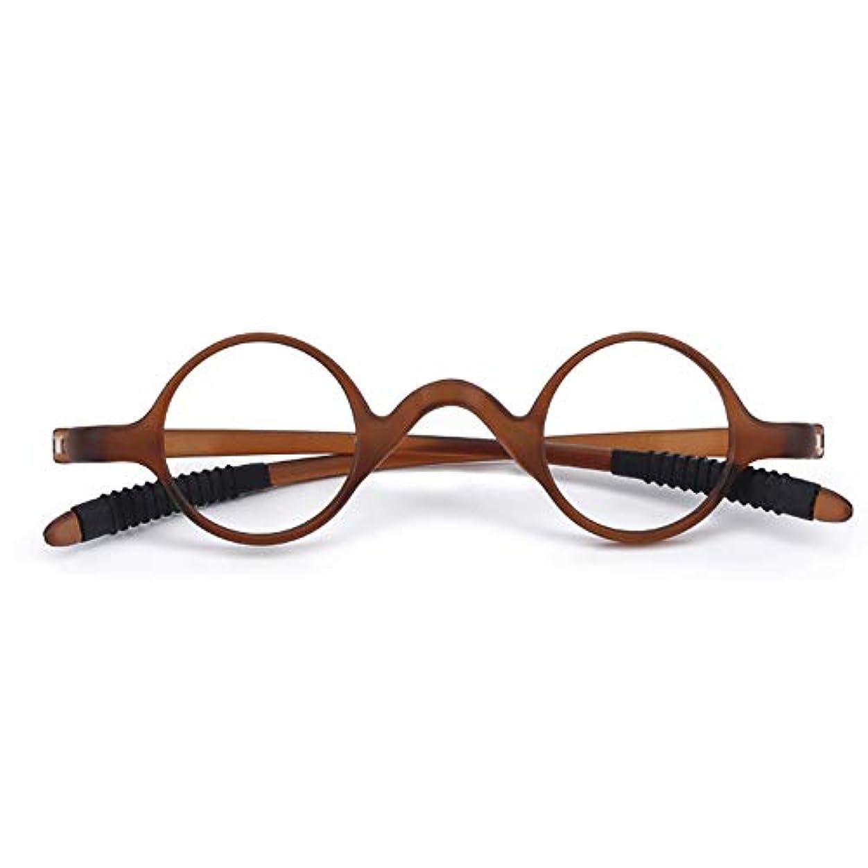 男性と女性のラウンド フルフレーム老眼鏡、 耐摩耗性、耐擦傷性のある超軽量樹脂レンズ 抗疲労ゴーグル、 TRヒンジメガネ折りたたみメガネ 老眼に適して