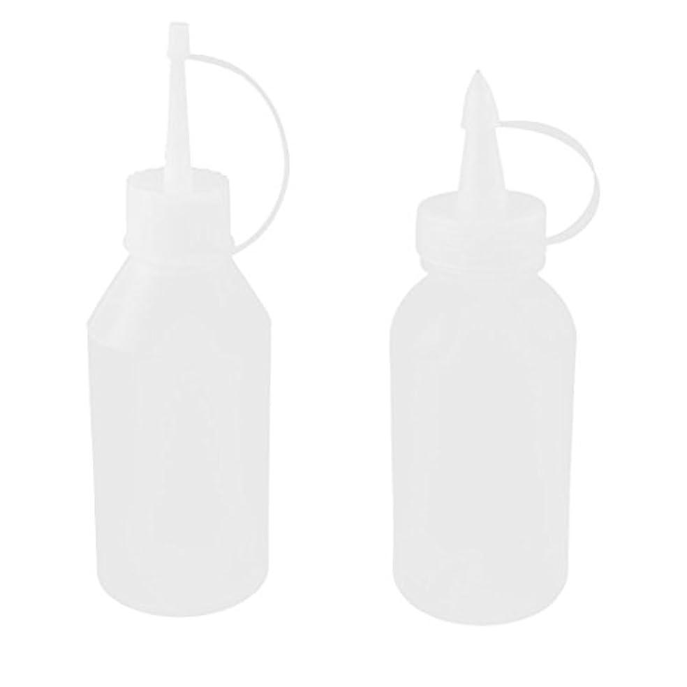 インレイ醜いとティームuxcell オイルボトル 油差し プラスチック 100ml ホワイト クリア 2個