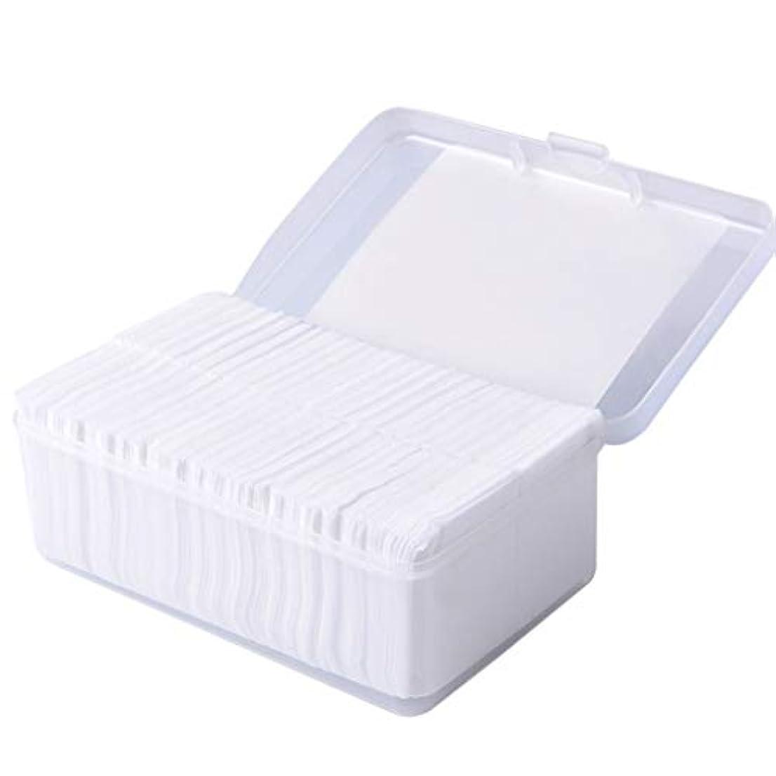 その粉砕する専らクレンジングシート 1000ピースコットンパッド化粧コットンワイプソフトメイク落としパッドフェイシャルクレンジングペーパーワイプスキンケアリムーバー (Color : White)