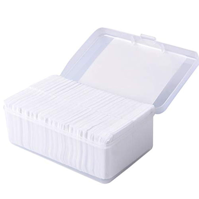 ハーネス一般化するヶ月目クレンジングシート 1000ピースコットンパッド化粧コットンワイプソフトメイク落としパッドフェイシャルクレンジングペーパーワイプスキンケアリムーバー (Color : White)