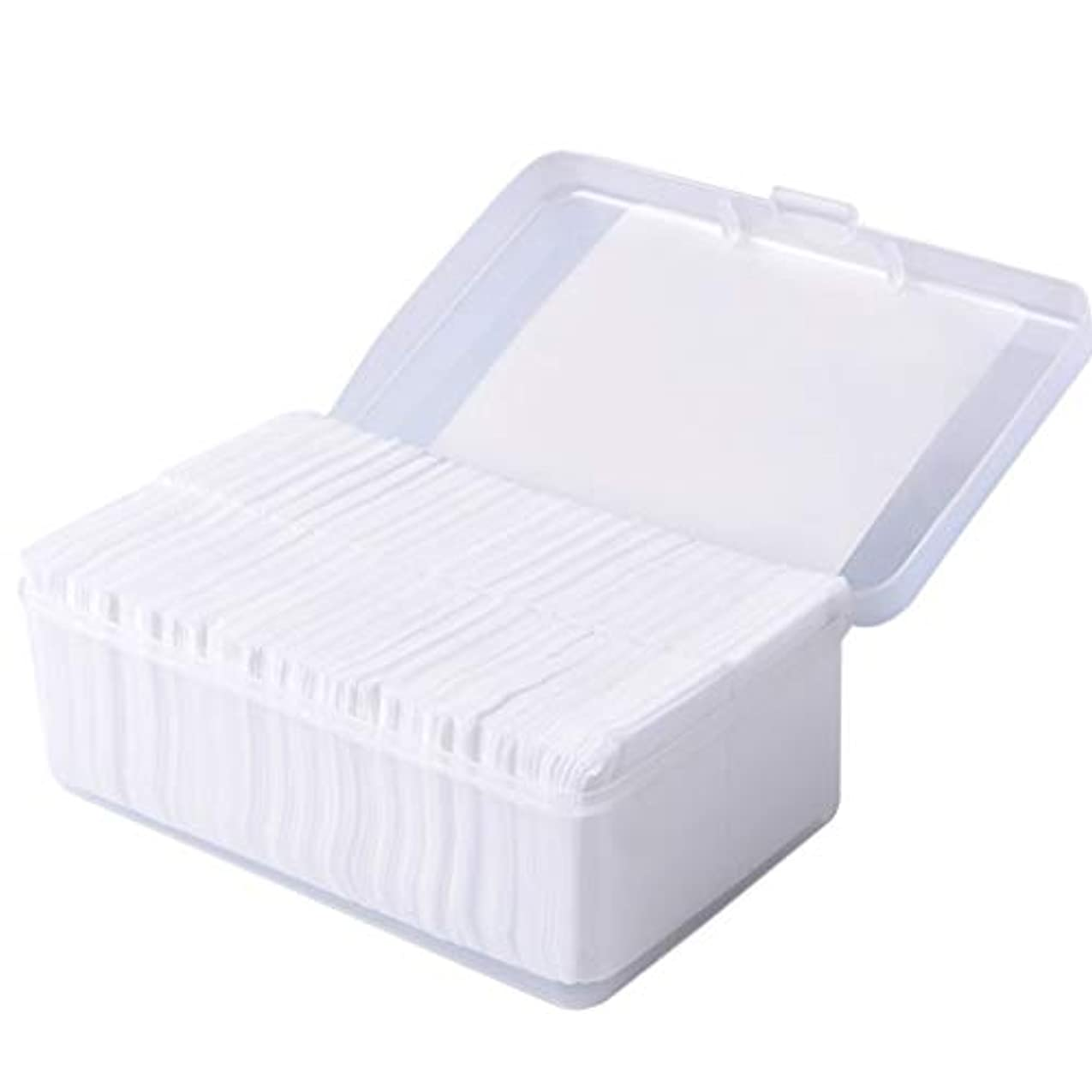 将来の量でおんどりクレンジングシート 1000ピースコットンパッド化粧コットンワイプソフトメイク落としパッドフェイシャルクレンジングペーパーワイプスキンケアリムーバー (Color : White)