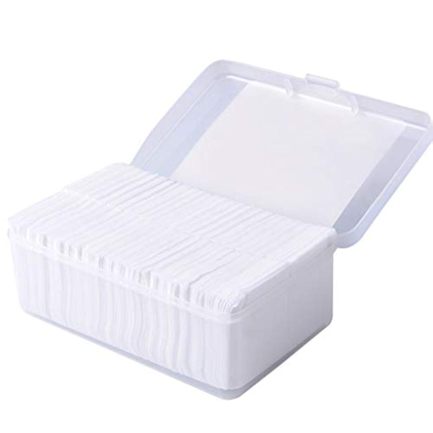 財布同様に効率的にクレンジングシート 1000ピースコットンパッド化粧コットンワイプソフトメイク落としパッドフェイシャルクレンジングペーパーワイプスキンケアリムーバー (Color : White)