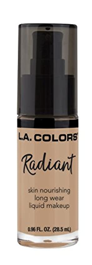 周囲粘液学期L.A. COLORS Radiant Liquid Makeup - Medium Tan (並行輸入品)