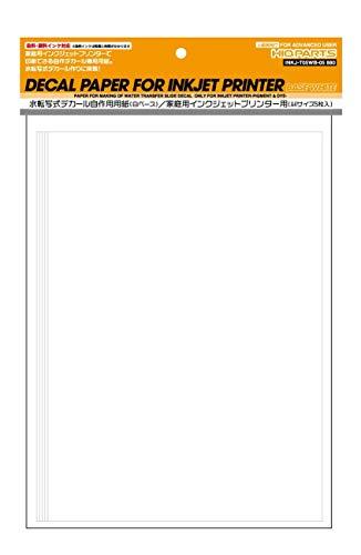 ハイキューパーツ 家庭用インクジェットプリンターデカール用紙 白ベース A5サイズ (5枚入) プラモデル用デ...