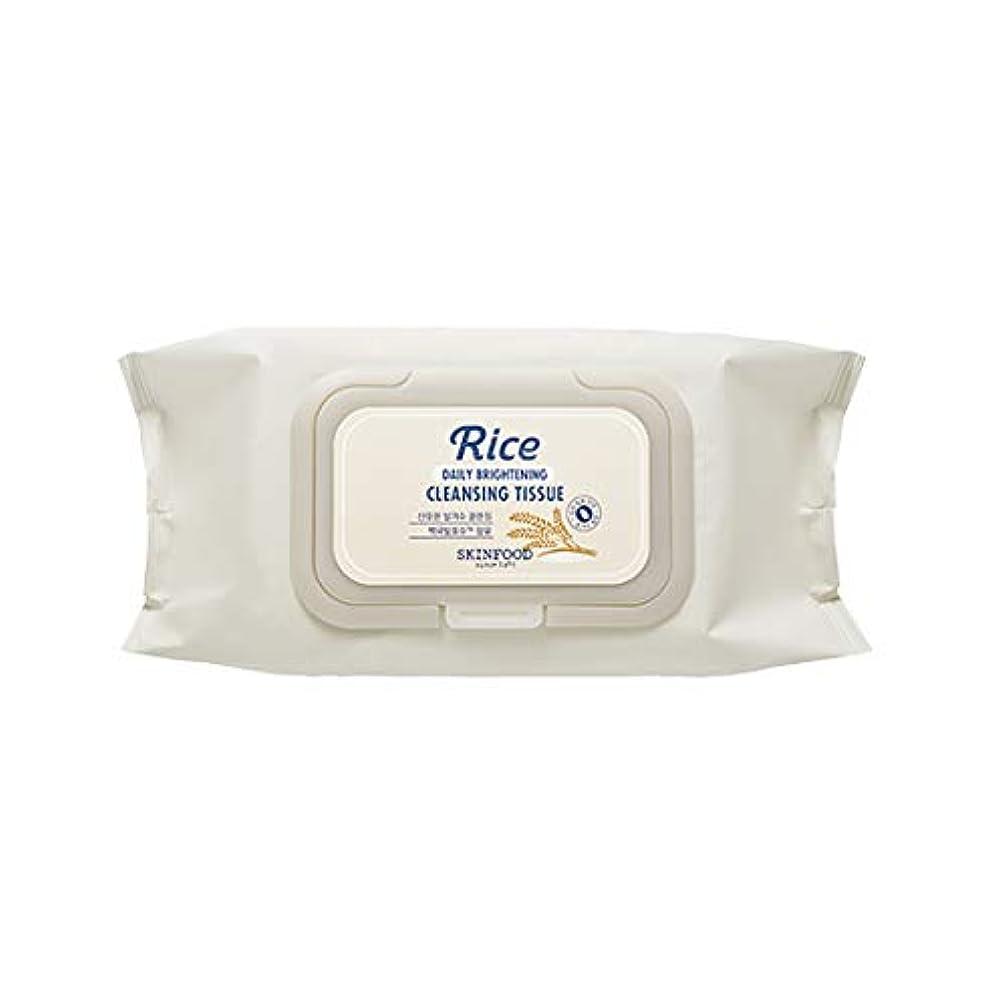 ツインドレス白いSkinfood/Rice Daily Brightening Cleansing Tissue/ライスデイリーブライトニングクレンジングティッシュ/380ml [並行輸入品]