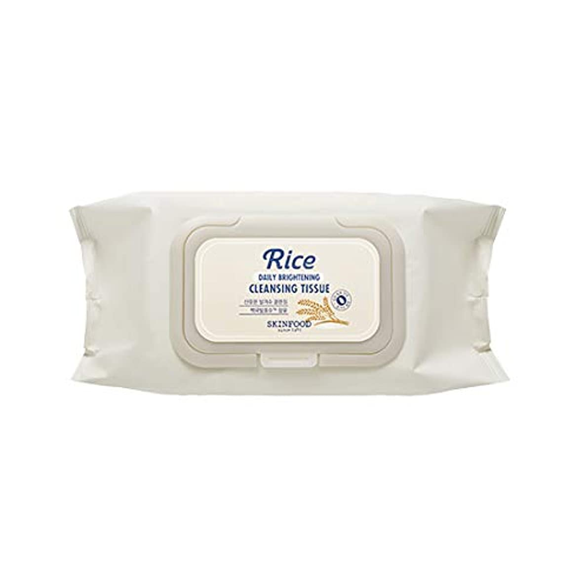 悔い改め嵐振るSkinfood/Rice Daily Brightening Cleansing Tissue/ライスデイリーブライトニングクレンジングティッシュ/380ml [並行輸入品]