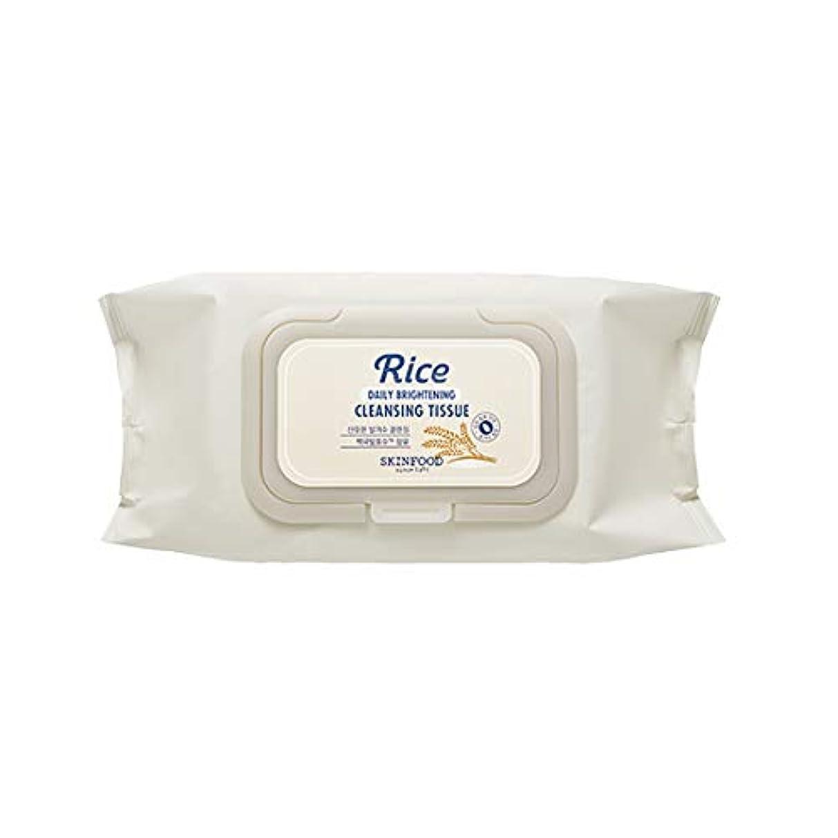 葉巻器用雄弁Skinfood/Rice Daily Brightening Cleansing Tissue/ライスデイリーブライトニングクレンジングティッシュ/380ml [並行輸入品]