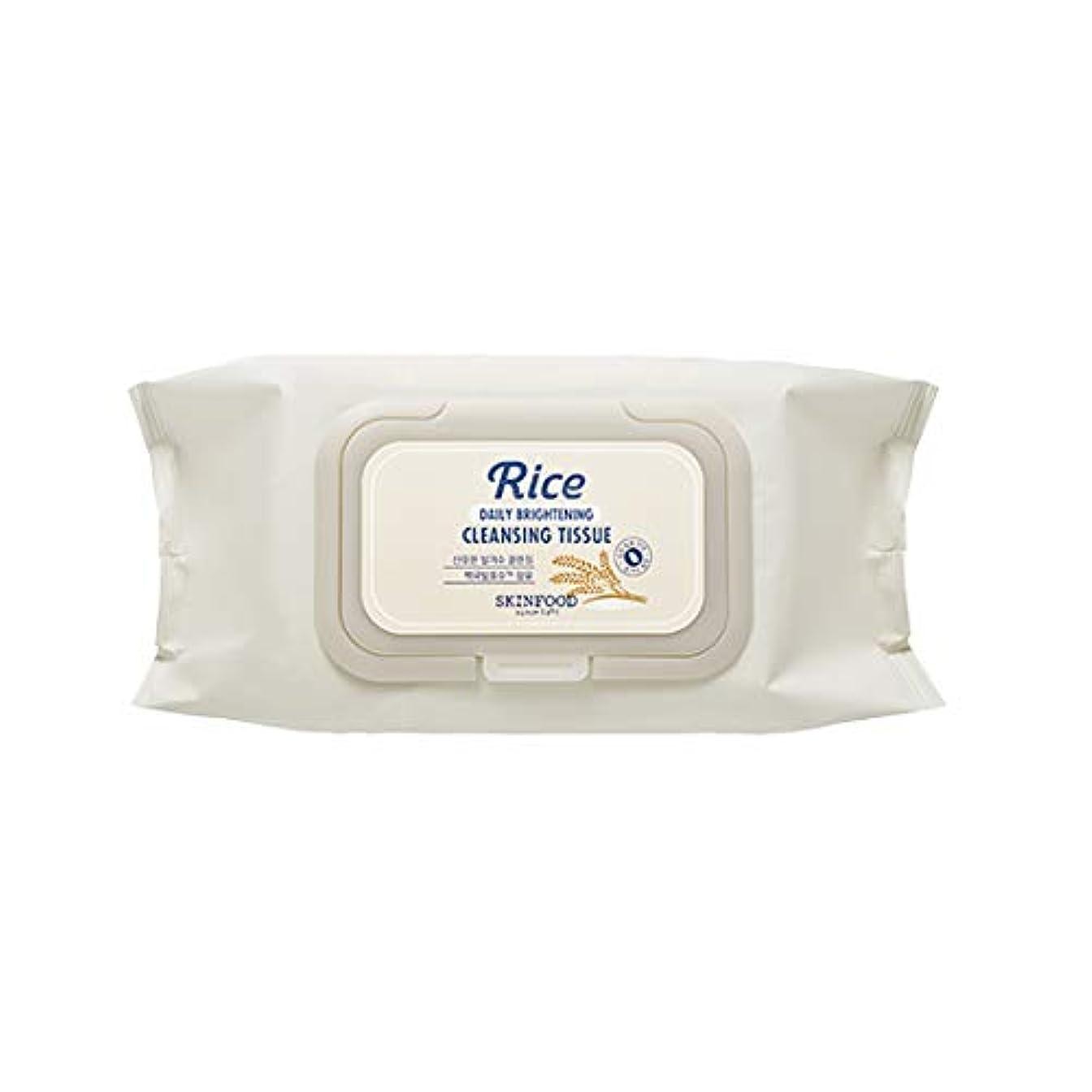 微視的冗長契約したSkinfood/Rice Daily Brightening Cleansing Tissue/ライスデイリーブライトニングクレンジングティッシュ/380ml [並行輸入品]