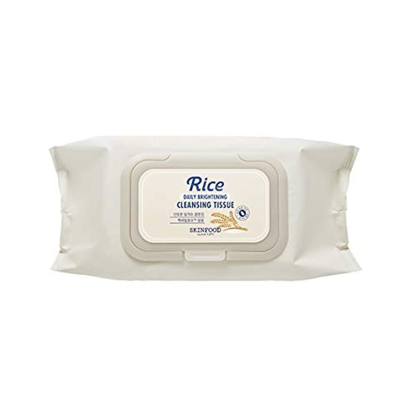 無一文興奮する有彩色のSkinfood/Rice Daily Brightening Cleansing Tissue/ライスデイリーブライトニングクレンジングティッシュ/380ml [並行輸入品]