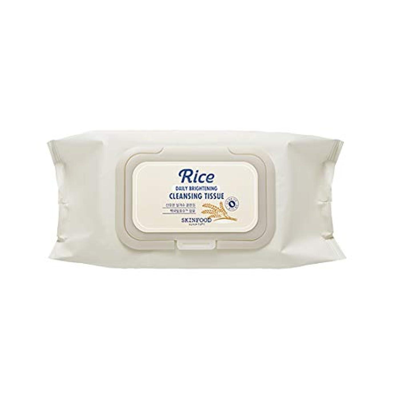 マティス発明する喉頭Skinfood/Rice Daily Brightening Cleansing Tissue/ライスデイリーブライトニングクレンジングティッシュ/380ml [並行輸入品]