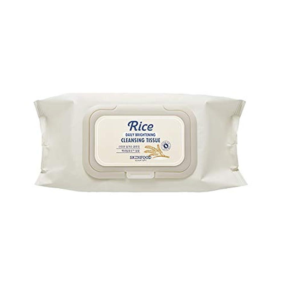 メロドラマティック耐久報復Skinfood/Rice Daily Brightening Cleansing Tissue/ライスデイリーブライトニングクレンジングティッシュ/380ml [並行輸入品]