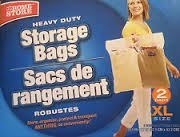 Stor-it Extra Large Storage Bags 20.5 x 17 With Handle, Pk of 2 by STRO (IT)