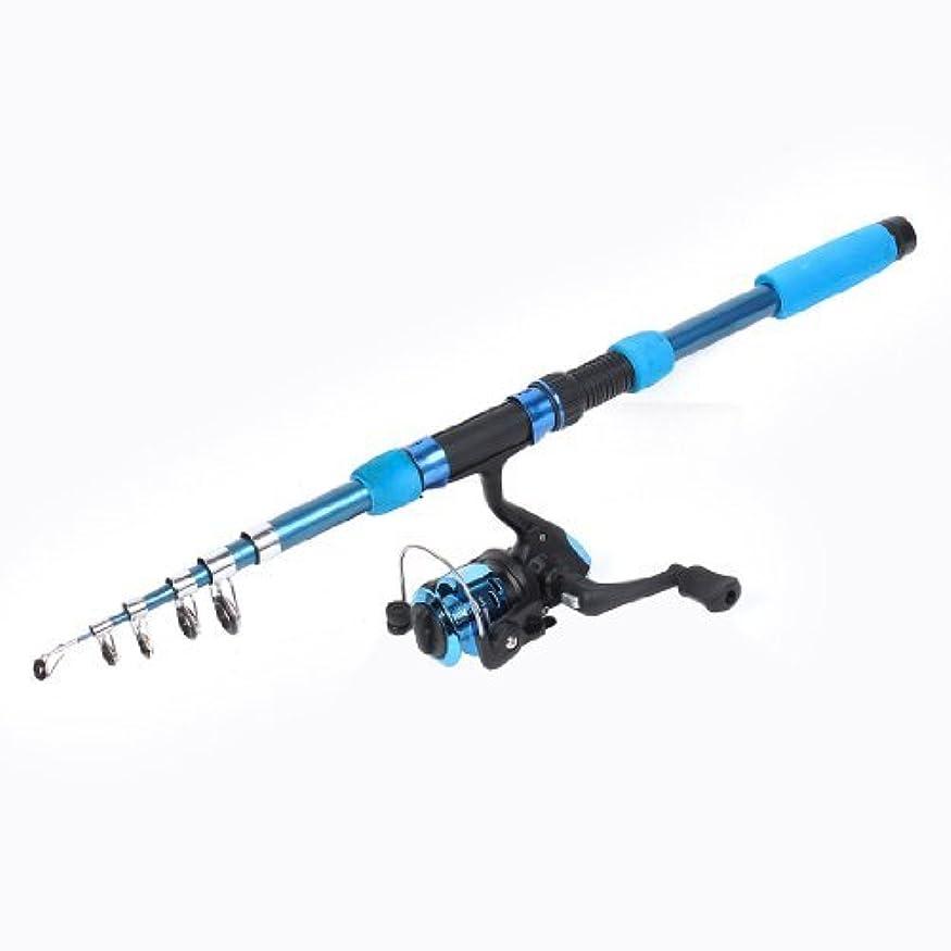 母性可愛い気をつけて2Mロング6つのセクション伸縮ロッド魚釣用スピニングリールのw